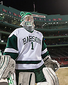 Jamie Murray (Babson - 1) - The Norwich University Cadets defeated the Babson College Beavers 1-0 on Thursday, January 9, 2014, at Fenway Park in Boston, Massachusetts.