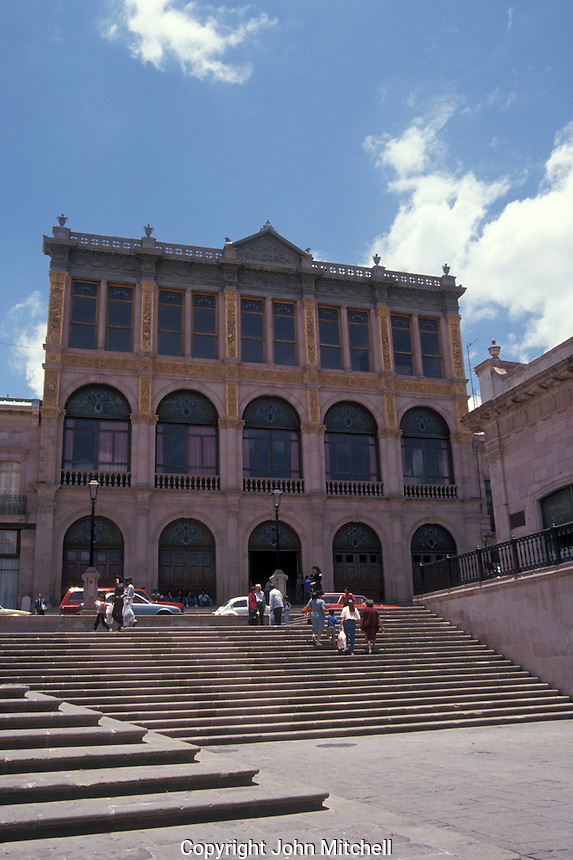 The 19th century Teatro Calderon in the city of Zacatecas, Mexico. The historic centre of Zacatecas is a UNESCO World Heritage site.