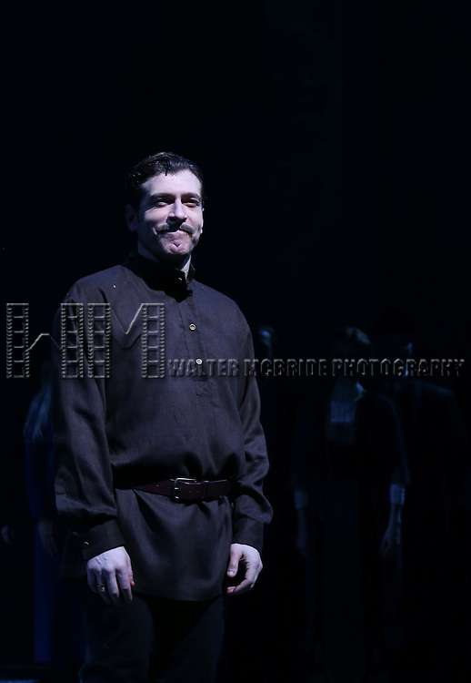 Tam Mutu during the Broadway Opening Night Performance Curtain Call for 'Doctor Zhivago' at The Broadway Theatre on April 21, 2015 in New York City.