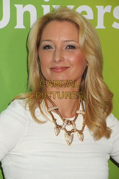 Katherine LaNasa.NBC Universal 2013 Winter Press Tour - Day 1 held at the Langham Huntington Hotel & Spa, Pasadena, California, USA..January 6th, 2013.headshot portrait gold necklace white   .CAP/ADM/BP.©Byron Purvis/AdMedia/Capital Pictures.