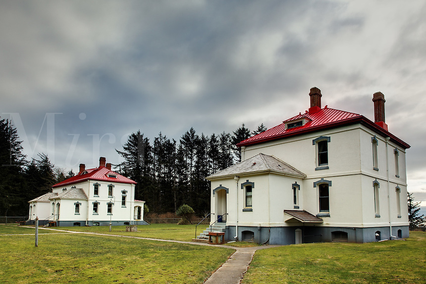 Lighthouse Keepers Residence for North Head Lighthouse, Cape Disappointment State Park, Washington, USA