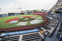Baseball, Beisbol, WBC, WBC 2017, WBC EXICO, World Baseball Classic, World Baseball Classic Mexico.  Jalisco stadium in Guadalajara Jalisco, Mexico. March 09, 2017.<br />