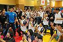(L to R) Tatsuhiro Yonemitsu, Saori Yoshida, Kaori Icho, SEPTEMBER 9, 2013 - Wrestling : Japanese Wrestling team celebrate after Wrestling remained to the Summer Olympic Games in 2020 at Ajinomoto Traning center, Tokyo, Japan. (Photo by Yusuke Nakanishi/AFLO SPORT)