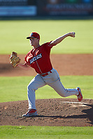 Lakewood BlueClaws starting pitcher David Parkinson (20) in action against the Kannapolis Intimidators at Kannapolis Intimidators Stadium on July 8, 2018 in Kannapolis, North Carolina.  The BlueClaws defeated the Intimidators 4-3.  (Brian Westerholt/Four Seam Images)