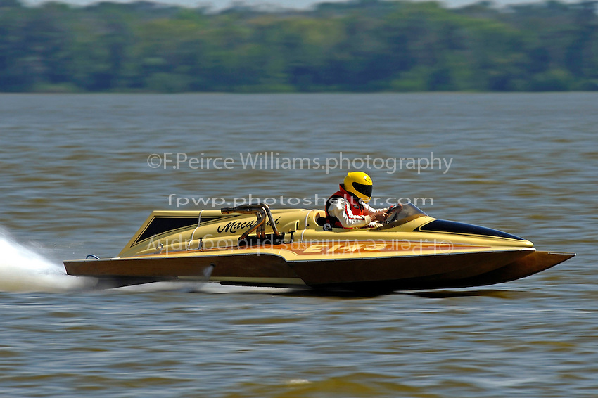 "Jim Houle, E-143 ""Macaroni"" (1970 Ron Jones 280 class cabover hydroplane)"