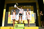 Warren Barguil (FRA) Team Sunweb retains the Polka Dot Jersey at the end of Stage 14 of the 104th edition of the Tour de France 2017, running 181.5km from Blagnac to Rodez, France. 15th July 2017.<br /> Picture: ASO/Bruno Bade | Cyclefile<br /> <br /> <br /> All photos usage must carry mandatory copyright credit (&copy; Cyclefile | ASO/Bruno Bade)