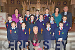 Curranes NS, Castleisland pupils who was confirmed in St Stephen's and John's Church Castleisland on Wednesday front row l-r: Shane Browne, Laura Skehan, Bishop Bill Murphy, Orla Devane, Conor Nolan. Middle row: Daniel Downey, Michelle O'Connor, Katie Lynch, Ann Marie O'Connor, Victoria Cotter, Ethan O'Connor. Back row: Elizabeth Sweeney teacher, Darragh Begley, Jessica Healy, Conor O'Shea, Cait Daly Principal Monsignor Dan O'Riordan