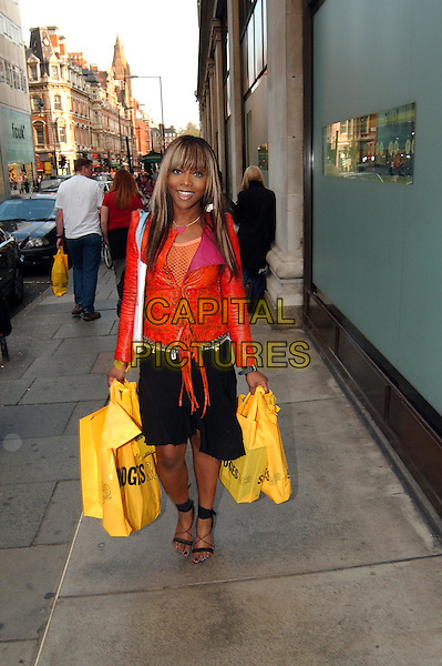 *Picture Exclusive*.EBONY THOMAS.shopping at Selfridges in Oxford Street.www.capitalpictures.com.sales@capitalpictures.com.©Capital Pictures.