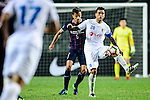 FC Hanoi Midfielder Gonzalo Damian (r) fights for the ball with FC Kitchee Defender Helio de Souza (l) during the AFC Champions League 2017 Preliminary Stage match between  Kitchee SC (HKG) vs Hanoi FC (VIE) at the Hong Kong Stadium on 25 January 2017 in Hong Kong, Hong Kong. Photo by Marcio Rodrigo Machado/Power Sport Images