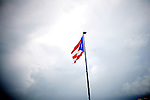 A Puerto Rican flag blows in the wind, in San Juan, Puerto Rico, on Friday, November 14, 2008.