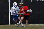 2013 March 02: Jake Bernhardt #3 of the Maryland Terrapins during a game against the Duke Blue Devils at Koskinen Stadium in Durham, NC.  Maryland won 16-7.