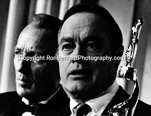 Popular American singer and actor Bing Crosby and American comedian and actor Bob Hope together with award,