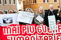 Protest of the No War network, in front Parliament , against intervention in Libya to stop Daesh, because it deemed it unnecessary, but wonders to punish the Turks  and Saudis, considered supporters of Daesh. Rome, Italy. 2th March 2016