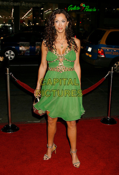 "SOFIA MILOS .""Blood Diamond"" Los Angeles Premiere at Grauman's Chinese Theatre, Hollywood, California, USA..December 6th, 2006.full length green dress gold straps .CAP/ADM/RE.©Russ Elliot/AdMedia/Capital Pictures"