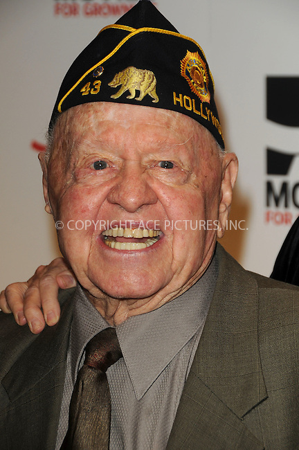 WWW.ACEPIXS.COM . . . . . ....February 7 2011, LA....Actor Mickey Rooney arriving at the AARP Magazine 10th Annual Movies For Grownups Awards at the Beverly Wilshire Four Seasons Hotel on February 7, 2011 in Beverly Hills, CA....Please byline: PETER WEST - ACEPIXS.COM....Ace Pictures, Inc:  ..(212) 243-8787 or (646) 679 0430..e-mail: picturedesk@acepixs.com..web: http://www.acepixs.com