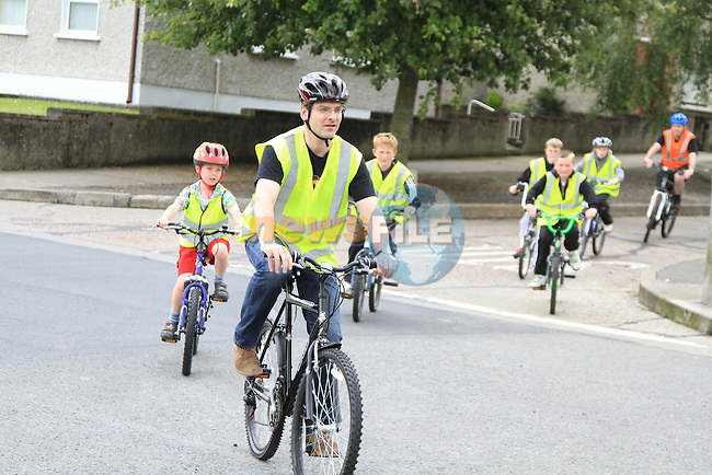 Tom and Luke Nelligan lead the cycle at the start of Bike Week Safety Cycle...(Photo credit should read Jenny Matthews www.newsfile.ie)....This Picture has been sent you under the conditions enclosed by:.Newsfile Ltd..The Studio,.Millmount Abbey,.Drogheda,.Co Meath..Ireland..Tel: +353(0)41-9871240.Fax: +353(0)41-9871260.GSM: +353(0)86-2500958.email: pictures@newsfile.ie.www.newsfile.ie.