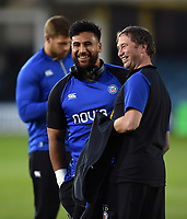 Cooper Vuna of Bath Rugby looks on prior to the match. Gallagher Premiership match, between Bath Rugby and Exeter Chiefs on October 5, 2018 at the Recreation Ground in Bath, England. Photo by: Patrick Khachfe / Onside Images