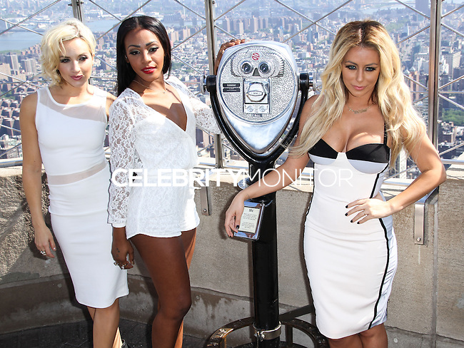 NEW YORK CITY, NY, USA - JUNE 02: Shannon Bex, Dawn Richard and Aubrey O'Day of music girl group Danity Kane visit the Empire State Building to celebrate the release of their new single 'Lemonade' on June 2, 2014 in New York City, New York, United States. (Photo by Jeffery Duran/Celebrity Monitor)