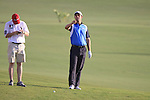 Padraig Harrington at the 18th hole during  Day 3 at the Dubai World Championship Golf in Jumeirah, Earth Course, Golf Estates, Dubai  UAE, 21st November 2009 (Photo by Eoin Clarke/GOLFFILE)