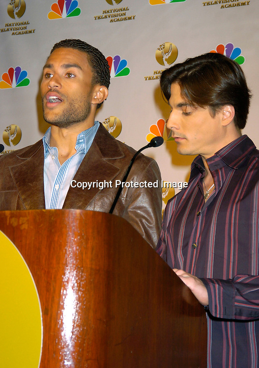 Charles Divins and Bryan Datillo ..at the announcement of the Daytime Emmy Awards on March 4, 204 at the Rainbow Room. Photo by Robin Platzer, Twin Images.