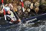 28th September 2019; Canal Olimpic del Segre, La Seu d'Urgell, Catalonia, Spain; ICF Canoe Slalom, World Championships, MC1 Men's Canoe canoe. Picture show Robert Hendrik (IRL) in action