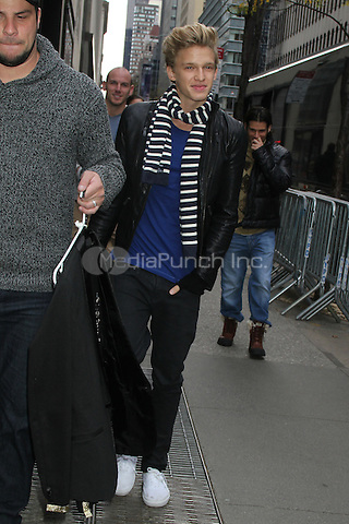 NEW YORK, NY - NOVEMBER 8: Cody Simpson seen in New York City. November 8, 2012. Credit: RW/MediaPunch Inc.