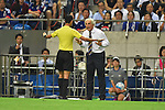 Abdulrahman Al-Jassim (Referee),   Vahid Halilhodzic (JPN),<br /> SEPTEMBER 1, 2016 - Football / Soccer :<br /> Japan's head coach Vahid Halilhodzic argues with referee Abdulrahman Al-Jassim during the FIFA World Cup Russia 2018 Asian Qualifiers Final Round Group B match between Japan 1-2 United Arab Emirates at Saitama Stadium 2002 in Saitama, Japan. (Photo by AFLO)