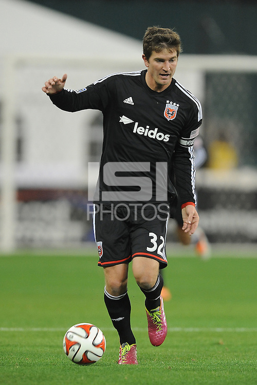 Washington D.C. - March 8, 2014: Bobby Boswell (32) of D.C. United.  The Columbus Crew defeated D.C. United 3-0 during the opening game of the 2014 season at RFK Stadium.