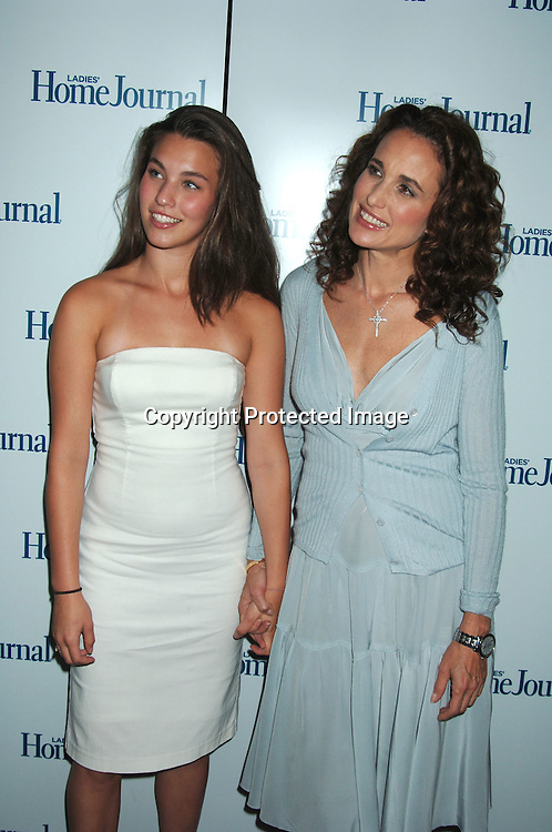 Andie MacDowell and daughter Rainy Qualley..at The Ladies Home Journal Luncheon Honoring winners of The First-Annual Health Breakthrough Awards whose groundbreaking Work has benefitted American Women and Families on August 2, 2006 at The Roosevelt Hotel. ..Robin Platzer, Twin Images