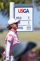 Na Yeon Choi (KOR) watches her tee shot on 5 during round 1 of the 2019 US Women's Open, Charleston Country Club, Charleston, South Carolina,  USA. 5/30/2019.<br /> Picture: Golffile | Ken Murray<br /> <br /> All photo usage must carry mandatory copyright credit (© Golffile | Ken Murray)