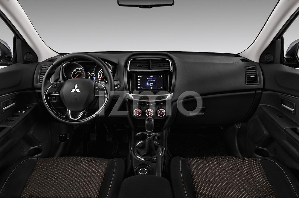 Stock photo of straight dashboard view of 2015 Mitsubishi ASX Diamond Edition 5 Door SUV Dashboard