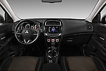 Stock photo of straight dashboard view of 2015 Mitsubishi ASX Diamond Edition 5 Door SUV Dashboard