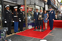 Joe Mantegna, Gary Sinise, Patricia Heaton &amp; U.S. Air Force General Robin Rand at the Hollywood Walk of Fame star ceremony honoring actor Gary Sinise. Los Angeles, USA 17 April  2017<br /> Picture: Paul Smith/Featureflash/SilverHub 0208 004 5359 sales@silverhubmedia.com