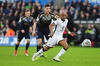Andre Ayew of Swansea City in action during the Sky Bet Championship match between Swansea City and Barnsley at the Liberty Stadium in Swansea, Wales, UK. Sunday 29 December 2019