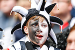 A young Grimsby Town fan during the 2015 Vanarama Conference Promotion Final match between Grimsby Town and Bristol Rovers at Wembley Stadium, London<br /> Picture by David Horn/eXtreme aperture photography +44 7545 970036<br /> 17/05/2015
