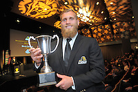 Men's player of the year Brad Shields. 2016 Wellington Rugby Union Awards at Te Papa in Wellington, New Zealand on Saturday, 29 October 2016. Photo: Dave Lintott / lintottphoto.co.nz