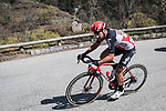 The breakaway including Thomas De Gendt (BEL) Lotto-Soudal during Stage 7 of the 78th edition of Paris-Nice 2020, running 166.5km from Nice to Valdeblore La Colmiane, France. 14th March 2020.<br /> Picture: ASO/Fabien Boukla   Cyclefile<br /> All photos usage must carry mandatory copyright credit (© Cyclefile   ASO/Fabien Boukla)