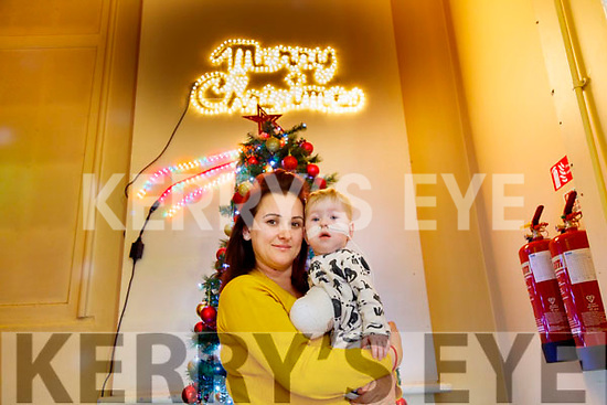Jake O'Donovan pictured with his mom Jenny Pye in Temple Street hospital in Dublin.