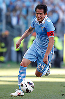 Calcio, finale di Coppa Italia: Roma vs Lazio. Roma, stadio Olimpico, 26 maggio 2013..Lazio midfielder Cristian Ledesma in action during the Italian Cup football final match between AS Roma and Lazio at Rome's Olympic stadium, 26 May 2013..UPDATE IMAGES PRESS/Isabella Bonotto....
