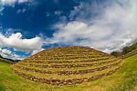 Circular stepped pyramid, Guachimontones archaeological site , near Teuchitlan, Jalisco, Mexico