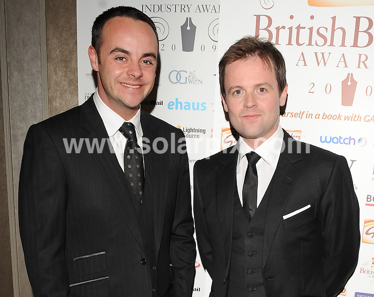 "**ALL ROUND PICTURES FROM SOLARPIX.COM**.**WORLDWIDE SYNDICATION RIGHTS**.Authors and celebrities arrive for the Galaxy British Book Awards or ""Nibbies"" at the Grosvenor House Hotel in London..This pic:  Ant & Dec.JOB REF:  8765    SSD     DATE:  04.04.09.**MUST CREDIT SOLARPIX.COM OR DOUBLE FEE WILL BE CHARGED**.**ONLINE USAGE FEE GBP 50.00 PER PICTURE - NOTIFICATION OF USAGE TO PHOTO @ SOLARPIX.COM**.**CALL SOLARPIX : +34 952 811 768 or LOW RATE FROM UK 0844 617 7637**"