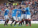 Lee Wallace celebrates his opener