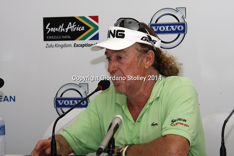 DURBAN - 8 January 2014 - Spanish golfer Miguel Ángel Jiménez speaks at a press conference ahead of the Volvo Golf Champions event set to tee off at the Durban Country Club on January 9 and finish on January 12. Picture: Allied Picture Press/APP