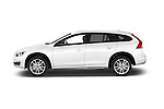 Car Driver side profile view of a 2017 Volvo V60 T5-Cross-Country 5 Door Wagon Side View