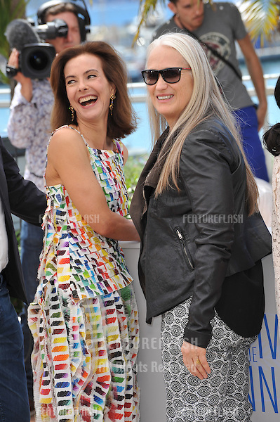 Carole Bouquet &amp; Jane Campion (right) at the photocall for the Jury at the 67th Festival de Cannes.<br /> May 14, 2014  Cannes, France<br /> Picture: Paul Smith / Featureflash