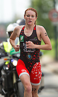 01 SEP 2013 - SARTROUVILLE, FRA - Great Britain's Lucy Hall racing for Brive Limousin Triathlon during the run on her way to taking third place at the women's Grand Prix de Triathlon de Sartrouville in Sartrouville, France (PHOTO COPYRIGHT © 2013 NIGEL FARROW, ALL RIGHTS RESERVED)