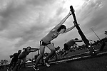 CARSON, CA - JULY 13:  Usine CrossFit Ottawa pushes the BigBob Sled in the Sprint Relay - BigBob Team Competition during during the 2012 Crossfit Games on July 13, 2012 at the Home Depot Center in Carson, California. (Photo by Donald Miralle) *** Local Caption *** .