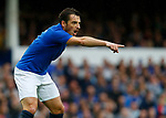 Everton's Leighton Baines gestures during the pre season friendly match at Goodison Park Stadium, Liverpool. Picture date 6th August 2017. Picture credit should read: Paul Thomas/Sportimage