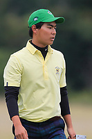 Justin Suh of Team USA on the 7th green during Round 3 of the WATC 2018 - Eisenhower Trophy at Carton House, Maynooth, Co. Kildare on Friday 7th September 2018.<br /> Picture:  Thos Caffrey / www.golffile.ie<br /> <br /> All photo usage must carry mandatory copyright credit (&copy; Golffile | Thos Caffrey)