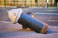 A damaged fire hydrant on Madison Avenue in New York on Thursday, April 21, 2016.  (© Richard B. Levine)